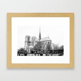 Notre Dame on film Framed Art Print