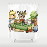 jackalope Shower Curtains featuring March Jackalope by JoJo Seames