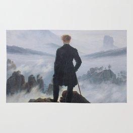 Wanderer above the Sea of Fog Rug