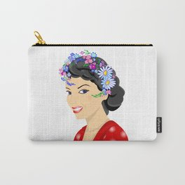 Beautiful woman with wreath Carry-All Pouch