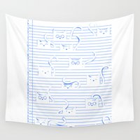 notebook Wall Tapestries featuring Fuzzy Homework {clean} by Tobe Fonseca