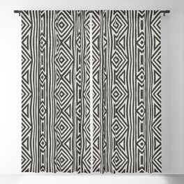 KALI DIAMOND STRIPE Blackout Curtain