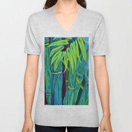 ʻOhe Polū - Blue Bamboo Unisex V-Neck