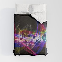 Colorful musical notes and scales artwork Comforters