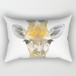 Baby Giraffe Watercolor Rectangular Pillow