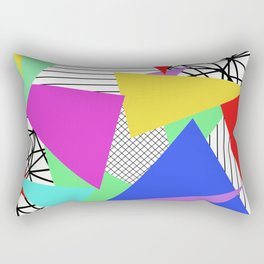 Bits And Pieces - Retro, random, abstract pattern Rectangular Pillow