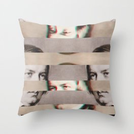 The Decomposed Composer Schumann Throw Pillow