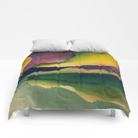 Fall Leaves II - Yellow, Lime Green, Red Purple Comforters