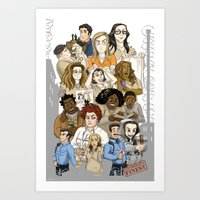 oitnb Art Prints featuring OITNB Fanart by StephDere