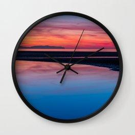 Sunset Seascape Wales Wall Clock