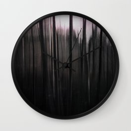 Ghostly winter forest Wall Clock