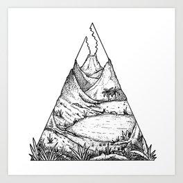 Jurassic Landscape Art Print