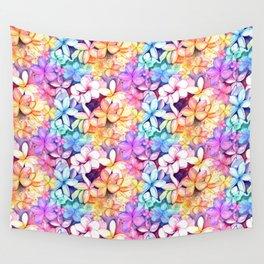 Plumeria Fun Pattern Wall Tapestry
