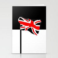 union jack Stationery Cards featuring Union Jack by Visually Interesting