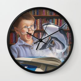 Where Books Come to Life Wall Clock