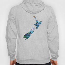 NEW ZEALAND MAP PAUA Hoody