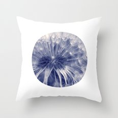 blue dandelion I Throw Pillow