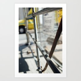 Construction Zone Art Print