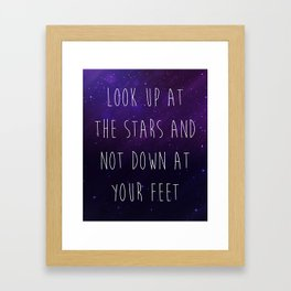 Look Up At The Stars Motivational Quote Framed Art Print