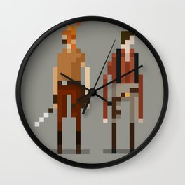 Brains and Brawn Wall Clock