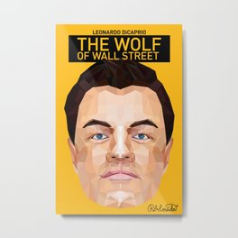 The Wolf of Wall Street Minimalist Poster Metal Print