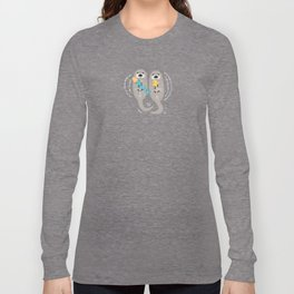 Otters Playing Long Sleeve T-shirt