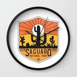 Vintage Saguaro National Park Retro Arizona Tucson Cactus Souvenir Wall Clock
