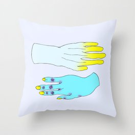 Digits Throw Pillow