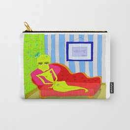 """Stealing Matisse"" (Picasso Watching) Carry-All Pouch"