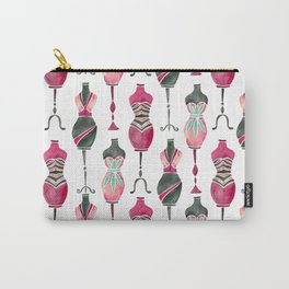 Vintage Dress Forms – Pink & Black Palette Carry-All Pouch