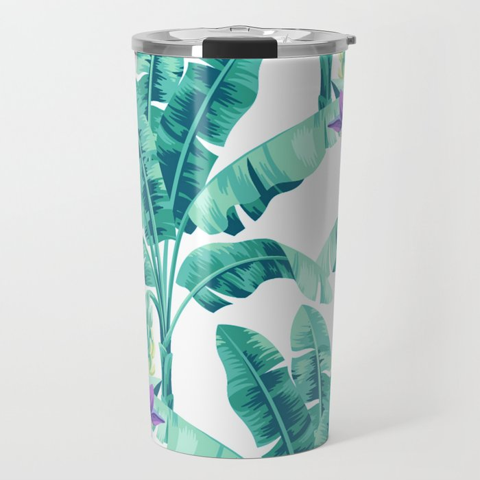 Banana leaf bloom Travel Mug