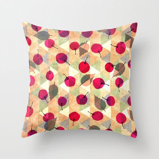 Sweet Cherries Throw Pillow