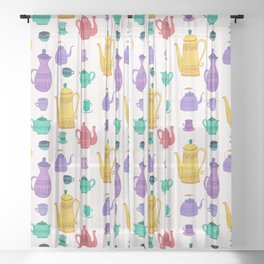 It`s time for tea! Sheer Curtain