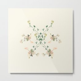 Sweet pea rorschach mandala Metal Print