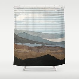 Salton Sea Landscape Shower Curtain