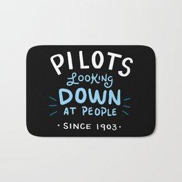 Aerospace Engineer Gift: Pilots Looking Down On People Bath Mat