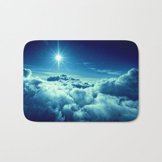 Sky Blue Clouds Bath Mat