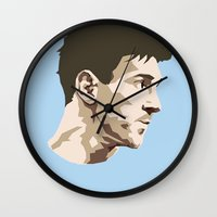 messi Wall Clocks featuring Messi by The World Cup Draw