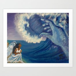 Humbled Under The Mighty Hand of GOD Art Print