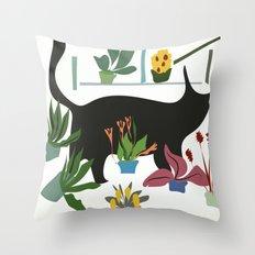 little cat Throw Pillow