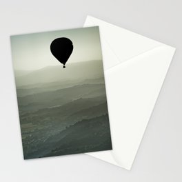 Hot air balloon over the Tuscany, Italy Stationery Cards