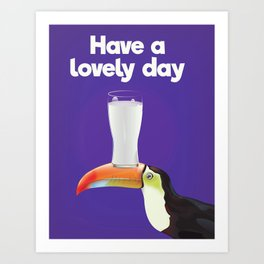 Have a lovely day milk Art Print