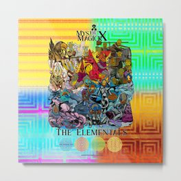 Mysticx & Magick: The Elemental Tribes of the Lost Continent - Art Cover Metal Print