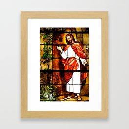 "Jesus knocks at ""The Door"" Framed Art Print"