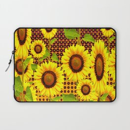 SPICE BROWN SUNFLOWERS ART Laptop Sleeve