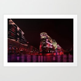 Magenta Filled Nights in Moscow Art Print