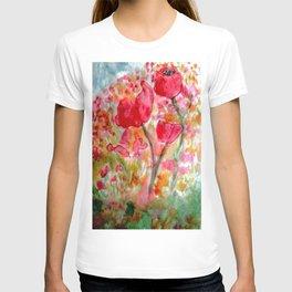 Watercolour Poppies T-shirt