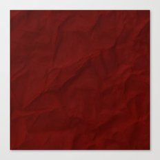 Red paper Canvas Print