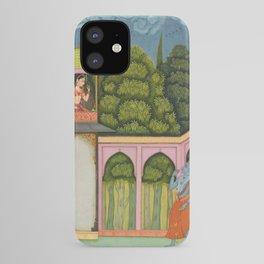 Krishna Approaches Radha - 17th Century Classical Hindu Art iPhone Case