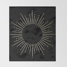 Mod Sunburst Gold 1 Throw Blanket